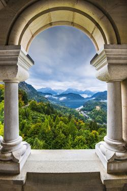 View from Neuschwanstein Castle in the Bavarian Alps of Germany. by SeanPavonePhoto