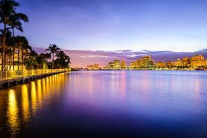West Palm Beach Florida, USA Cityscape on the Intracoastal Waterway. by SeanPavonePhoto