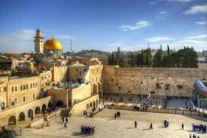 Western Wall and Dome of the Rock in the Old City of Jerusalem, Israel. by SeanPavonePhoto
