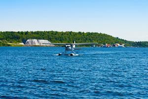 Seaplane in the Sea, Deep Bay, Parry Sound, Ontario, Canada