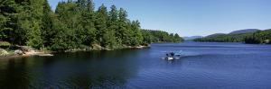 Seaplane Landing in a Lake, Long Lake, Adirondack State Park, New York State, USA