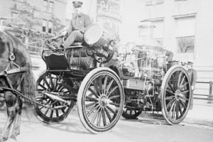 Searchlight on Horse Drawn Steam Boiler Fire Truck