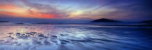 Seascape at Dusk, Bantham Beach, South Devon, Devon, England
