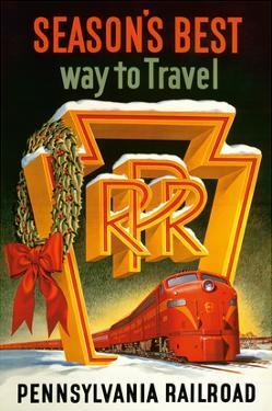 Season's Best Way to Travel - Pennsylvania Railroad