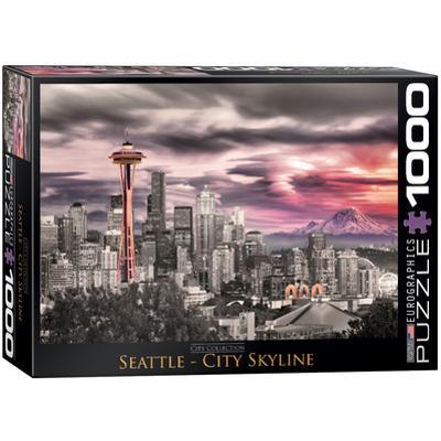 Seattle City Skyline 1000 Piece Puzzle
