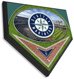 Seattle Mariners Team Logo Home Plate Plaque