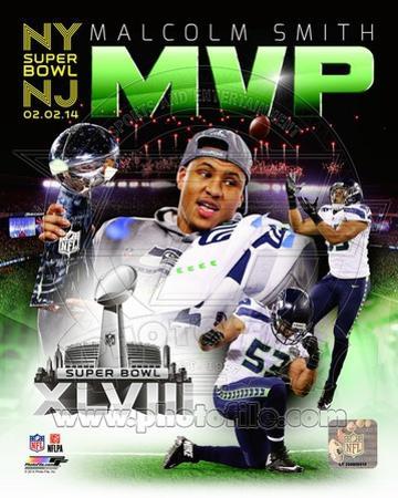 Seattle Seahawks Malcolm Smith Super Bowl XLVIII MVP Portrait Plus