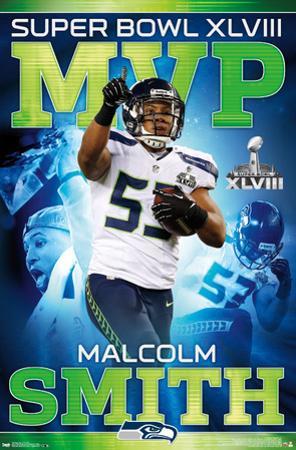 Seattle Seahawks Malcolm Smith Super Bowl XLVIII MVP