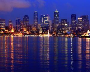 Seattle Skyline 12th Man