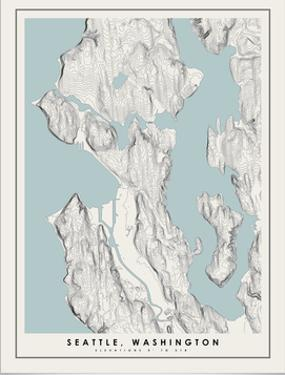 Seattle Topographical Print