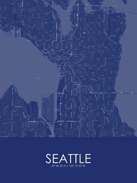 Seattle, United States of America Blue Map
