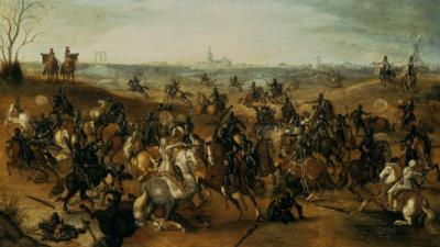 The Battle of Lekkerbeetje or the Battle of Vught Heath with a View of 'S-Hertogenbosch'