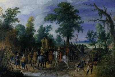 Cavalry and Infantry before a Chapel, before 1610