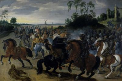 Cavalry in Combat at the Foot of a Hill