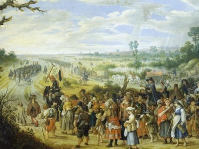 Scene of War: Population Fleeing before Enemy