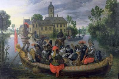 The Boating Party, Satirical Scene with Cats and Monkeys as Humans