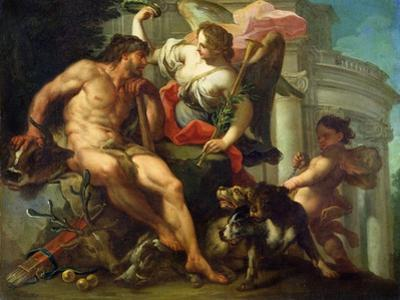 Hercules Crowned by Fame by Sebastiano Conca