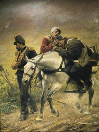 Third War of Independence, the Wounded at Bezzecca, 21 July 1866,