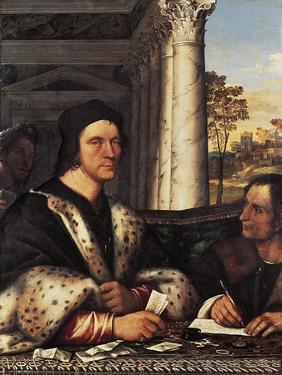 Portrait of Cardinal Ferry Carondelet with the Secretary, 1512 by Sebastiano del Piombo