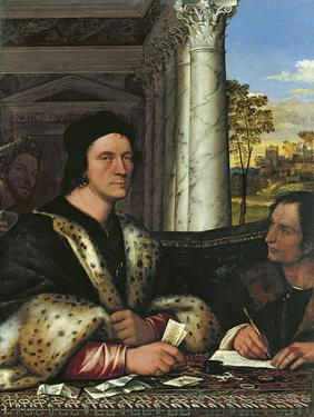 Portrait of Ferry Carondelet (1473-152), with His Secretary by Sebastiano del Piombo