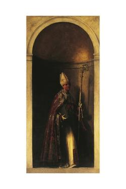 Saint Louis of Toulouse, Decoration from Organ Door, Ca 1509 by Sebastiano del Piombo
