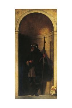 St Sinibald, Decoration from Organ Door, Ca 1509 by Sebastiano del Piombo