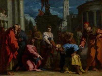 Christ and the Woman Taken in Adultery, C.1710