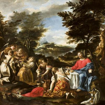 Christ Served by Angels, C.1695