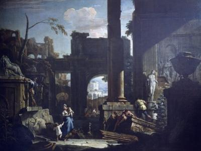 Classical Ruins and Figures