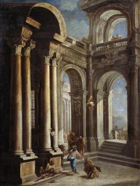 The Healing of Blind Man of Jericho by Sebastiano Ricci