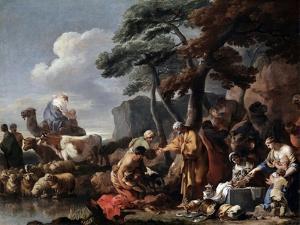 Jacob Burying the Strange Gods under the Oak by Shechem, 17th Century by Sébastien Bourdon