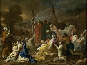 Moses and the Brazen Serpent, 1653-1654 by Sébastien Bourdon