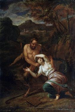 Pan and the Nymph Syrinx, 17th Century by Sébastien Bourdon