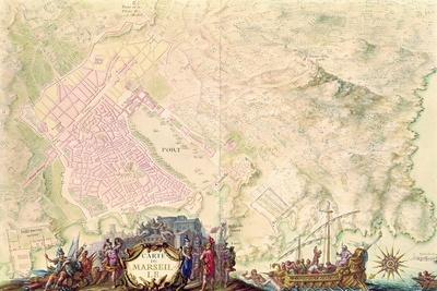 Louis XIV Atlas, Map and Plan of Marseille, 1683-88