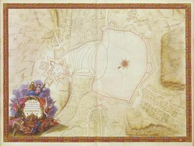 Plan and Map of the Town, Citadel and Surroundings of Amiens, from the 'Atlas Louis XIV', 1683-88