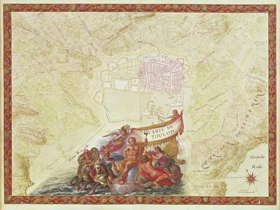 Plan and Map of Toulon, from the 'Atlas Louis XIV', 1683-88