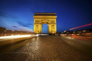 Arc de Triomphe Blue Hour by Sebastien Lory
