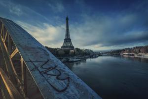 Bridge, Eiffel, Paris, France by Sebastien Lory