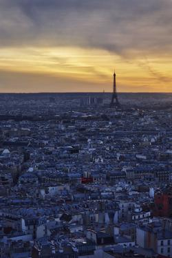 Eiffel, Paris, France, Sunrise, Sunset by Sebastien Lory