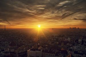 Paris Sunset by Sebastien Lory
