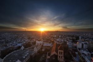 Parisian Sunset by Sebastien Lory