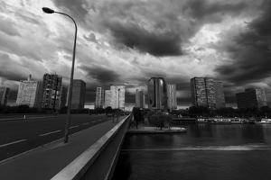 Pont Mirabeau Storm by Sebastien Lory