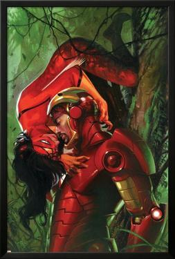 Secret Invasion No.3 Cover: Iron Man and Spider Woman