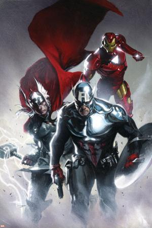 Secret Invasion No.6 Cover: Captain America, Thor and Iron Man