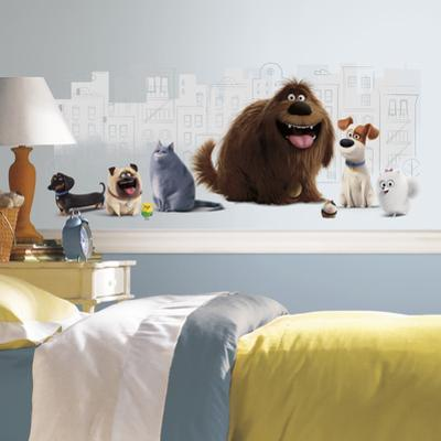 Secret Life of Pets Peel and Stick Giant Wall Graphic