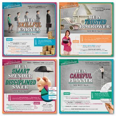 Secrets to Money Management Laminated Educational Poster Set
