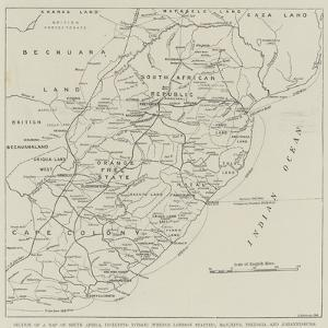 Section of a Map of South Africa
