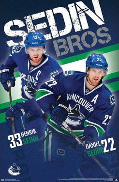 Sedin Brothers Vancouver Canucks