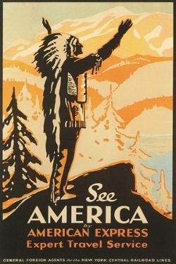 See America Travel Poster