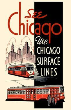 See Chicago Use Chicago Surface Lines Red Black
